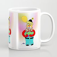 clown Mugs featuring Clown by LoRo  Art & Pictures