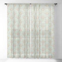 Art Deco fan pattern Sheer Curtain