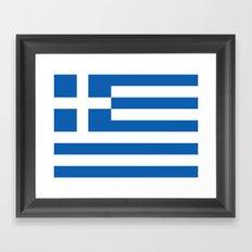 Greek flag Framed Art Print