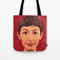 amelie Tote Bags featuring Amelie by DC Bowers
