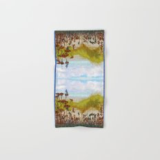 Plaid Beachscape with Dragonflies Hand & Bath Towel
