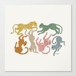 Rainbow Cheetah Canvas Print