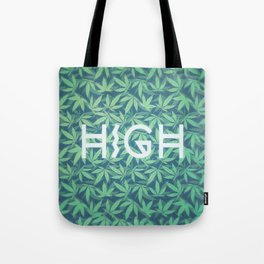 HIGH TYPO! Cannabis / Hemp / 420 / Marijuana  - Pattern Tote Bag