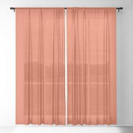 Burnt Orange Solid Sheer Curtain