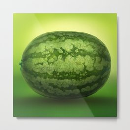 Abstract Green Rind of a Watermelon Metal Print