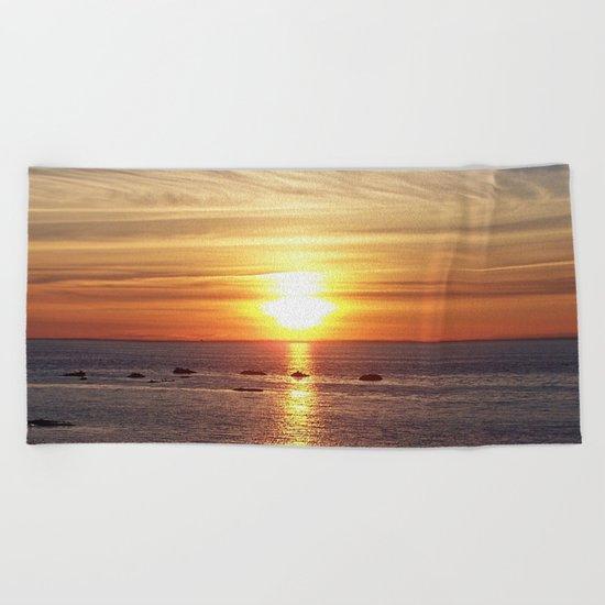 Gaspesie Sunset Beach Towel
