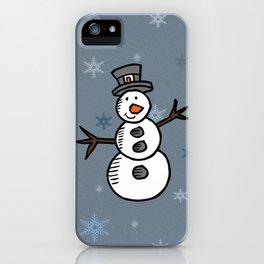 Cute snowman iPhone Case