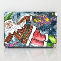 santa iPad Cases featuring Santa by Shelley Ylst Art