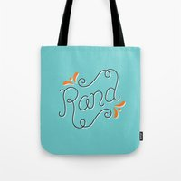 lettering Tote Bags featuring Rand Lettering by janna barrett