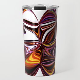 Digitally Created Colorful Clover Travel Mug