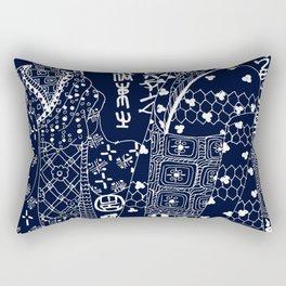 Navy Blue art Rectangular Pillow