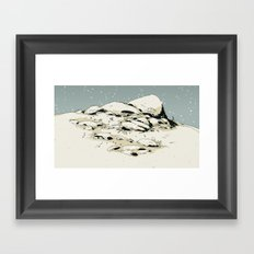 Landscape with snow Framed Art Print