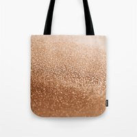 copper Tote Bags featuring COPPER by Monika Strigel®