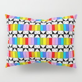 Tribute to mondrian 4- piet,geomtric,geomtrical,abstraction,de  stijl,composition. Pillow Sham