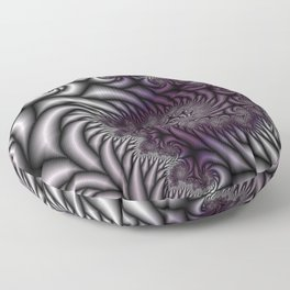 Purple and Gray Floor Pillow