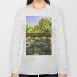 Footbridge Over Bear Creek Long Sleeve T-shirt