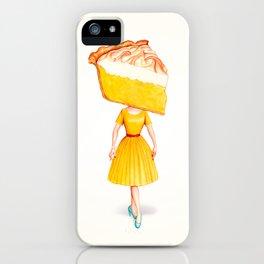 Cake Head Pin-Up - Lemon iPhone Case