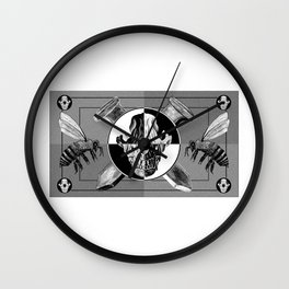 Positive and Negative Amos Fortune Test Pattern Wall Clock