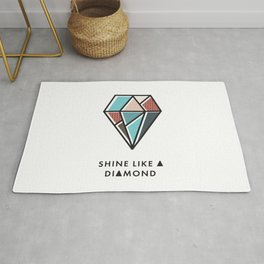 Geometric Diamond Pattern 8 - Shine like a diamond Rug