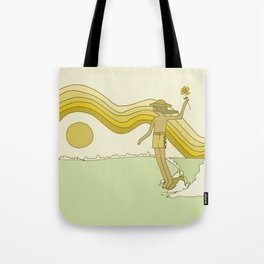 in the now // longboard surf art by surfy birdy  Tote Bag
