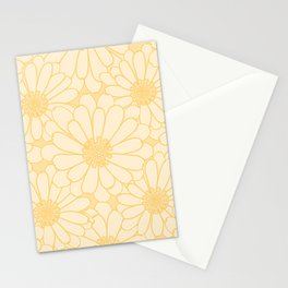Common Marigold Flower Pattern Stationery Cards