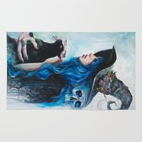 valentine Area & Throw Rugs featuring Blue Valentine by Tanya Shatseva