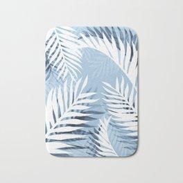 Tropical bliss - chambray blue Bath Mat