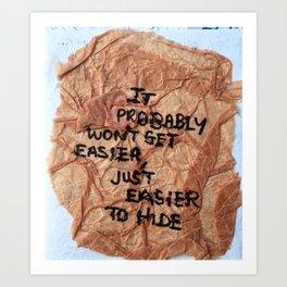 crumple Art Print