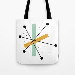 Retro Minimalist Mid Century Modern Pattern Design Tote Bag