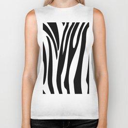 Zebra trendy design artwork animal exotic pattern Biker Tank