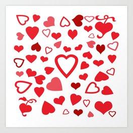 Hearts a'Plenty Art Print