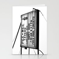 pee wee Stationery Cards featuring Pee Wee tavern sign by Vorona Photography