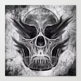 symmetry skull grunge Canvas Print