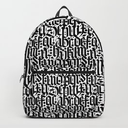 typography pattern 2 - old gothic calligraphy design, seamless Backpack