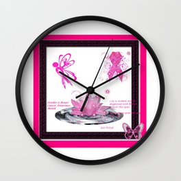 BC Know The Risk Butterfly Wall Clock