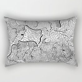 The Little Mermaid by Hans Christian Andersen & Yayoi Kusama: A Fairy Tale of Infinity and Love For Rectangular Pillow