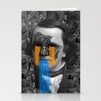 stephen king Stationery Cards featuring Stephen by DIVIDUS