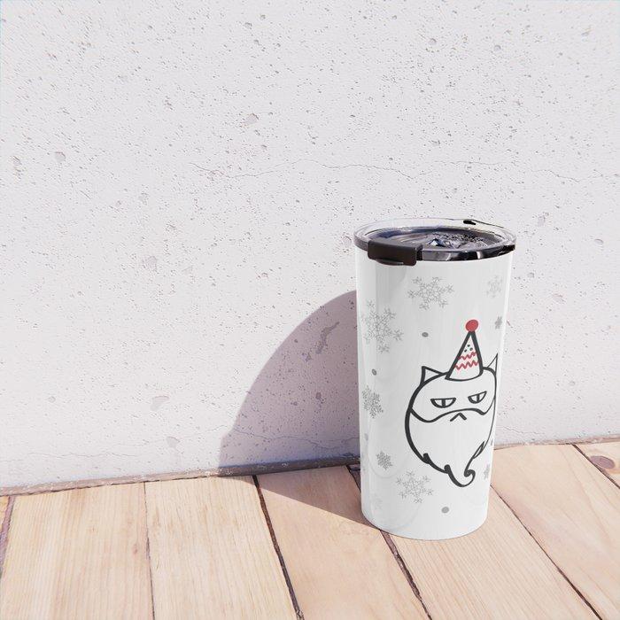 Santa Max The Cat Travel Mug