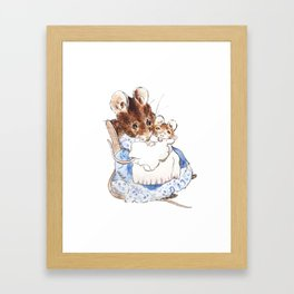 Mrs Mouse and baby Peter Rabbit  Beatrix Potter Framed Art Print