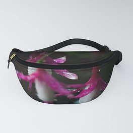 Wet Pink and White Fuchsia Fanny Pack