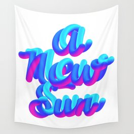 A new sun typography 3d M83 Wall Tapestry