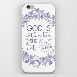 Christian Bible Verse Quote - Psalm 46-5 iPhone Skin