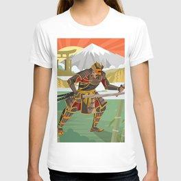 samurai warrior in the mountain T-shirt