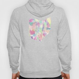 Watercolor State Map - Ohio OH colorful Hoody