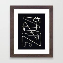 Movements Black Framed Art Print