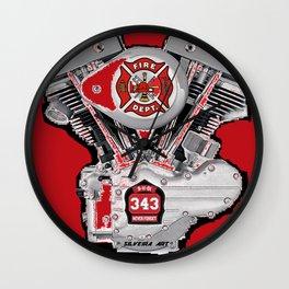 Shoveling fire. Wall Clock
