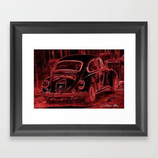 "VW BEETLE ""49"" Framed Art Print"