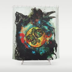 Circle of Life Surreal Study Shower Curtain