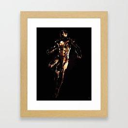 Iron Man Golden Framed Art Print