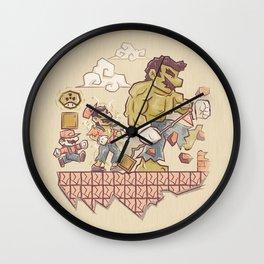 Radioactive Mushroom Wall Clock